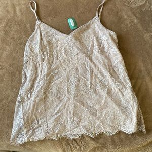 Maurices beige dusty pink lace overlay cami L